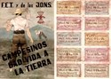 Picture of SPANISH CIVIL WAR RATION CARD AND POSTER – Campesinos dad vida  a la tierra