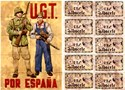 Picture of SPANISH CIVIL WAR RATION CARD AND POSTER – U.G.T. por Espana