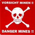 Picture of GERMAN ANTI-MINE POSTER WITH SKULL & CROSSBONES