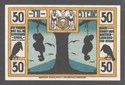 Picture of ANTI-SEMITIC NOTGELD: TOSTEDT, 50 PFENNIG  (1921)