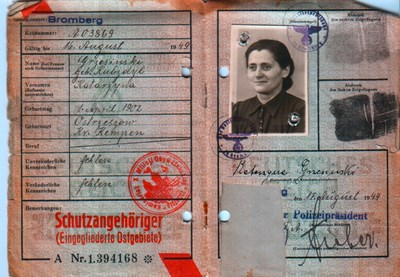 Picture of KENNKARTE #05 - SCHUTZANGEHÖRIGE BROMBERG (issued 17 August 1944)