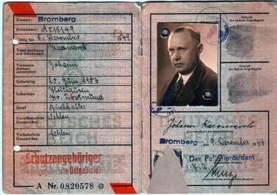 Picture of KENNKARTE #13 - SCHUTZANGEHÖRIGE BROMBERG (issued 09 December 1944)