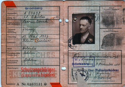 Picture of KENNKARTE #30 - SCHUTZANGEHÖRIGE BROMBERG (issued 01 November 1944