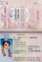 Picture of ROMANIAN PASSPORT - ANTONIU  (Vrancea - 2001)