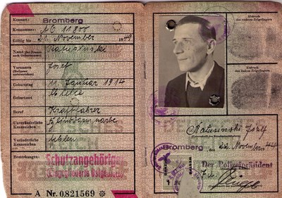 Picture of KENNKARTE #59 - SCHUTZANGEHÖRIGE BROMBERG (issued 22 November 1944)