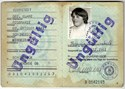 Picture of DDR:  EAST GERMAN PERSONALAUSWEIS - BIERSTEDT, ROSEMARIE  (1981)