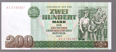 Bild von EAST GERMANY (DDR): 200 MARKS (1985) (for purchase of multiple notes) * uncirculated *