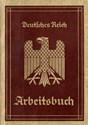 Picture of NAZI GERMANY:  ARBEITSBUCH ISSUED IN HAMBURG  (Wagner, Martha - 1935)