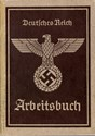 Picture of NAZI GERMANY:  ARBEITSBUCH ISSUED IN WEISSENBURG IN BAYERN  (Hertlein, Karl - 1939)