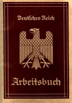 Picture of NAZI GERMANY:  ARBEITSBUCH ISSUED IN BRAKE  (Hoyer - 1935)