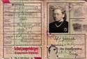 Picture of KENNKARTE (#123) - SCHUTZANGEHÖRIGE BROMBERG  (issued 15 August 1944)