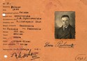 Picture of POLAND:  TEMPORARY ID CARD - PUBENC, LEON  (Bydgoszcz - 1946)