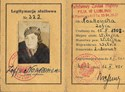 Picture of POLAND:  DEPARTMENT OF HEALTH ID CARD  (Noakowska, Zofia - 1945)