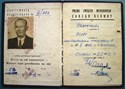 Picture of POLAND:  ID CARD BY THE UNION OF THE BLIND  (Chorzow - 1962)