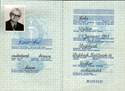 Bild von DDR:  EAST GERMAN PASSPORT - LOHS, WALTER  (1970)