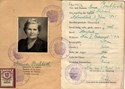 Picture of AUSTRIA:  IDENTITY CARD ISSUED IN OCCUPIED VIENNA  (BUBLICK, ANNA - 1952)