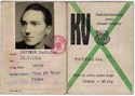 Picture of CZECHOSLOVAKIA:  PHYSICAL EDUCATION UNION ID CARD (Prague - 1961)  (# 4807)
