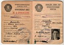 Picture of USSR:  TRADE UNION ID - CHEMIST  (1961)  (# 4856)