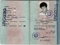 Picture of DDR:  EAST GERMAN PASSPORT  (Berlin - 1990)  (# 5026)