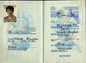 Picture of DDR:  EAST GERMAN PASSPORT  (Gustrow - 1971)  (# 5031)