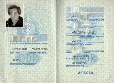 Picture of DDR:  EAST GERMAN PASSPORT  (Naumburg - 1979)  (# 5032)