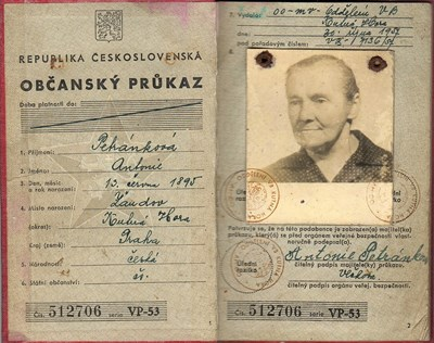 Picture of CZECHOSLOVAKIA:  IDENTITY CARD  (Kutna Hora - 1957)  (# 5069)