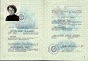 Picture of DDR:  EAST GERMAN PASSPORT  (Zossen - 1987)  (# 5390)