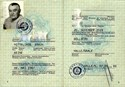 Picture of DDR:  EAST GERMAN PASSPORT  (Halle - 1985)  (# 5391)