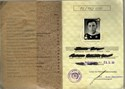 Picture of DDR:  EAST GERMAN MILITARY ID  (Wehrpaß)  (Neubrandenburg - 1968)  (# 5442)