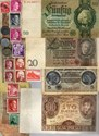 Picture of NAZI GERMANY BANKNOTE, COIN AND STAMP SET # 16