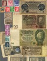 Bild von NAZI GERMANY BANKNOTE, COIN AND STAMP SET # 115