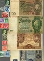 Picture of NAZI GERMANY BANKNOTE, COIN AND STAMP SET # 2