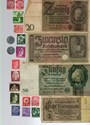 Picture of NAZI GERMANY BANKNOTE, COIN AND STAMP SET # 26