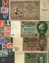 Picture of NAZI GERMANY, CROATIA, POLAND BANKNOTE, COIN AND STAMP SET # 75