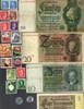 Picture of NAZI GERMANY, CROATIA, POLAND BANKNOTE, COIN AND STAMP SET # 78