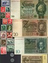 Bild von NAZI GERMANY and CROATIA BANKNOTE, COIN AND STAMP SET # 133