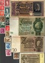 Bild von NAZI GERMANY and CROATIA BANKNOTE, COIN AND STAMP SET # 48